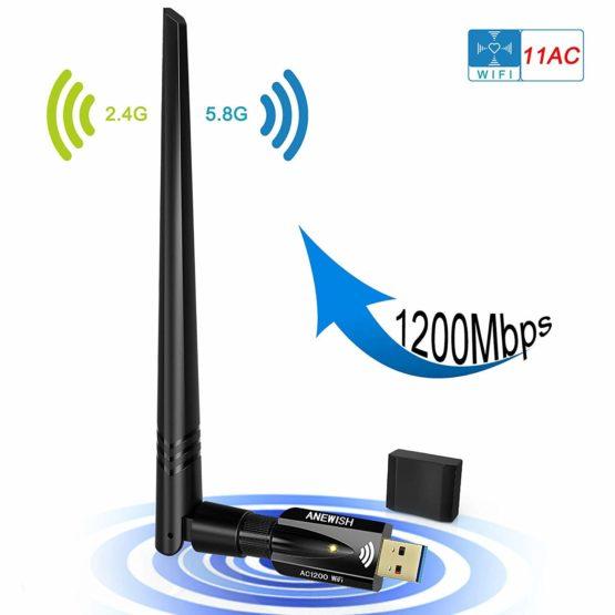USB WiFi Adapter for Desktop Windows WiFi USB Adapter with AC1200 Mac Wireless